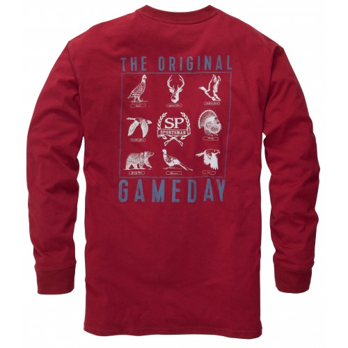 The Original Gameday Tee: Rhubarb Long Sleeve